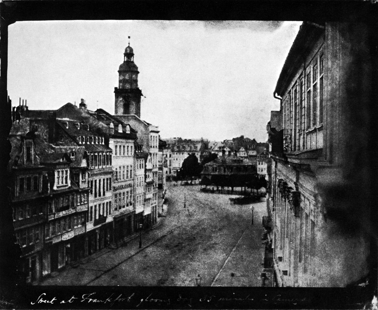 Kirjeldus Frankfurt Am Main-William Henry Fox Talbot-Zeil in Richtung