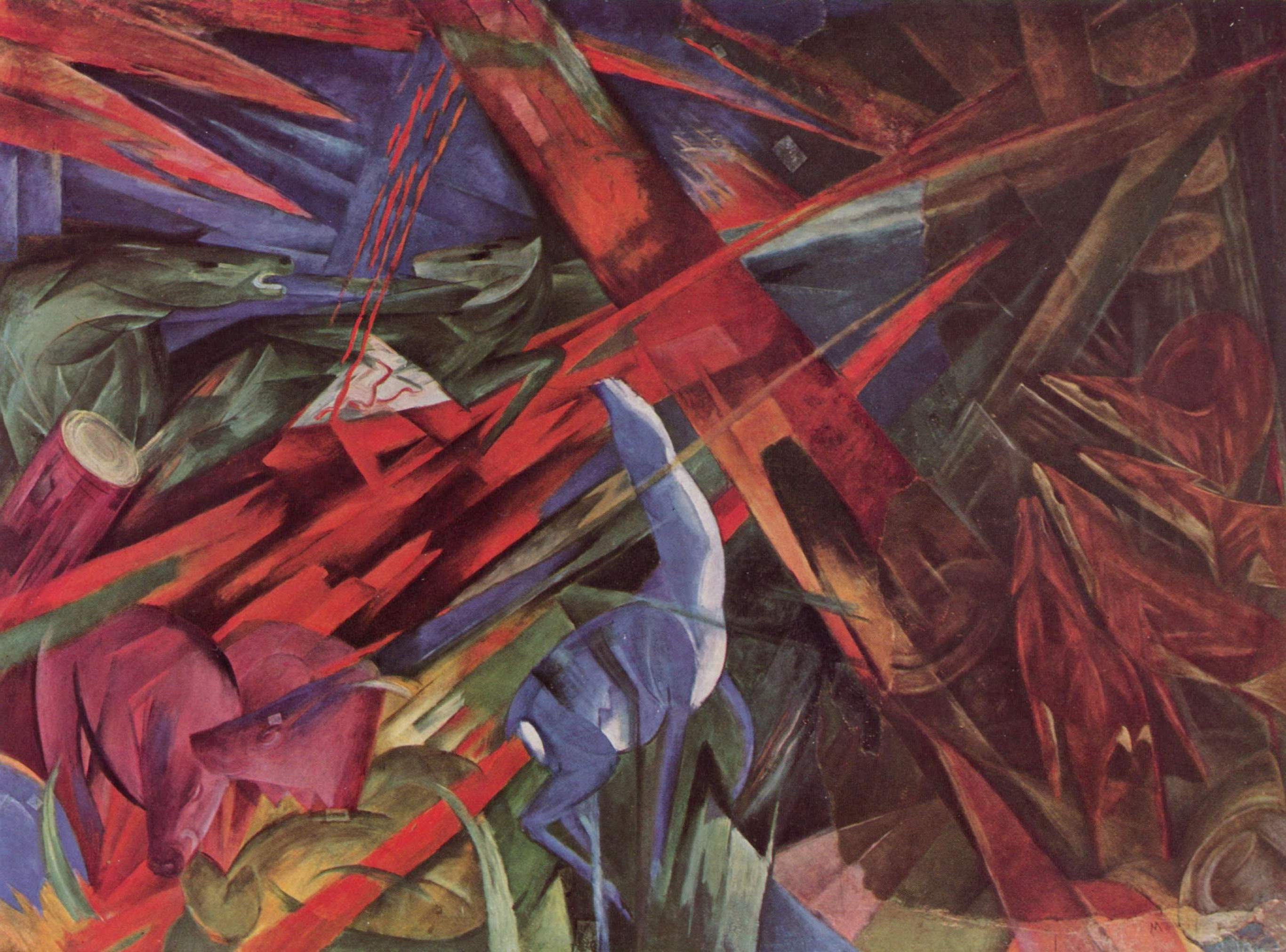 franz marc The fox, 1913 by franz marc massive range of art prints, posters & canvases quality uk framing & 100% money back guarantee.