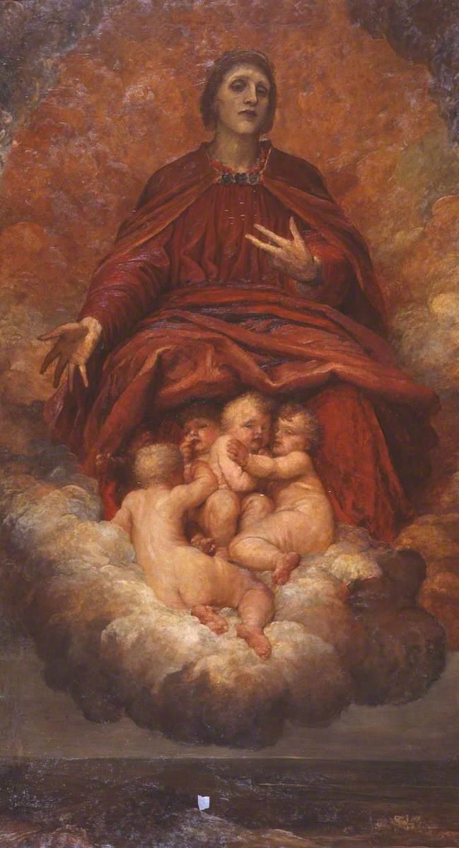 Джордж Фредерик Уоттс (1817-1904) - Дух христианства - N01637 - Национальный Gallery.jpg