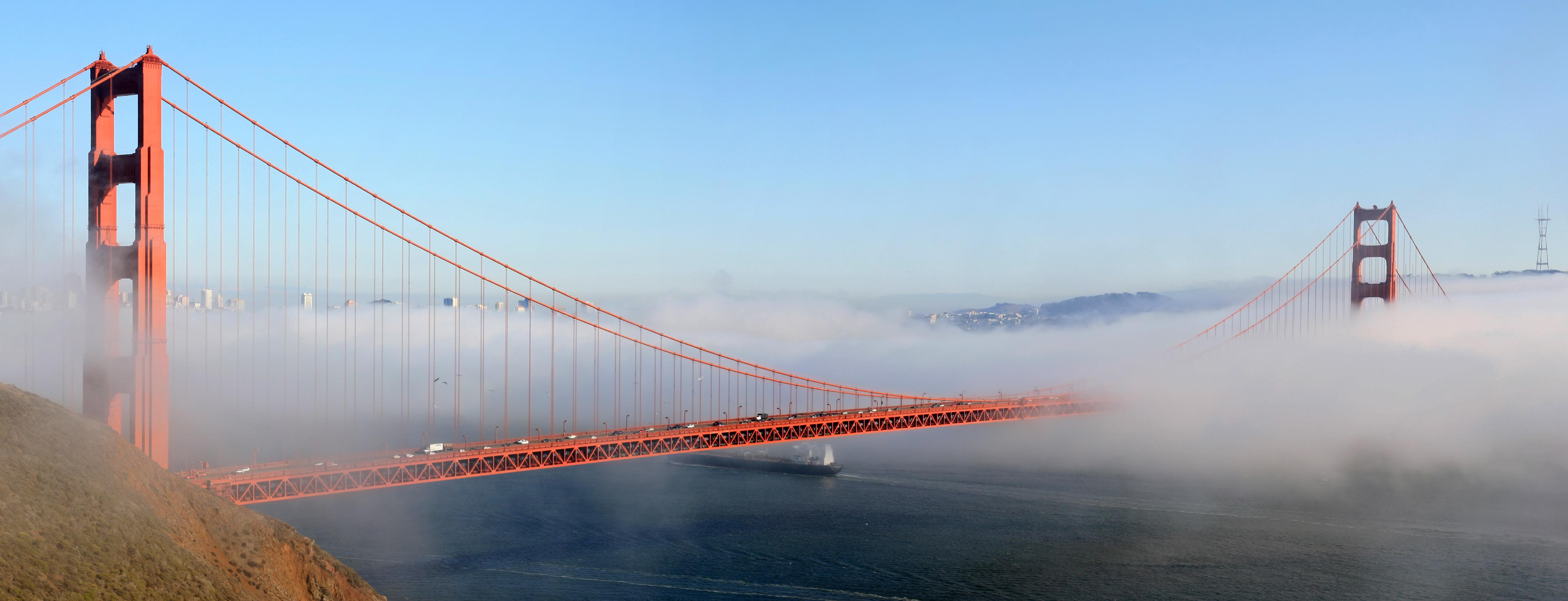Shades of Blue at Golden Gate Bridge, San Francisco, CA