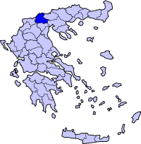 Location of Pella Prefecture in Greece