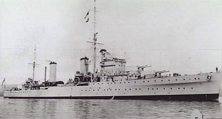 HMS Galatea on completion