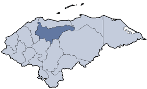 Location of Yoro department