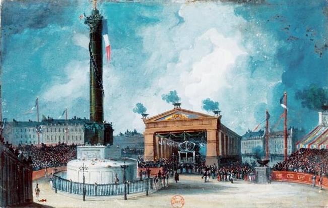 Fichier:Inauguration de la colonne de Juillet, Paris, 1848.jpg