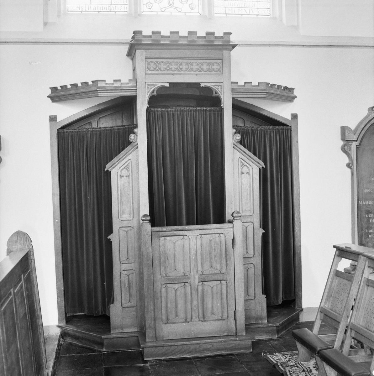 File interieur eiken biechtstoel in noorder transept for Interieur wikipedia
