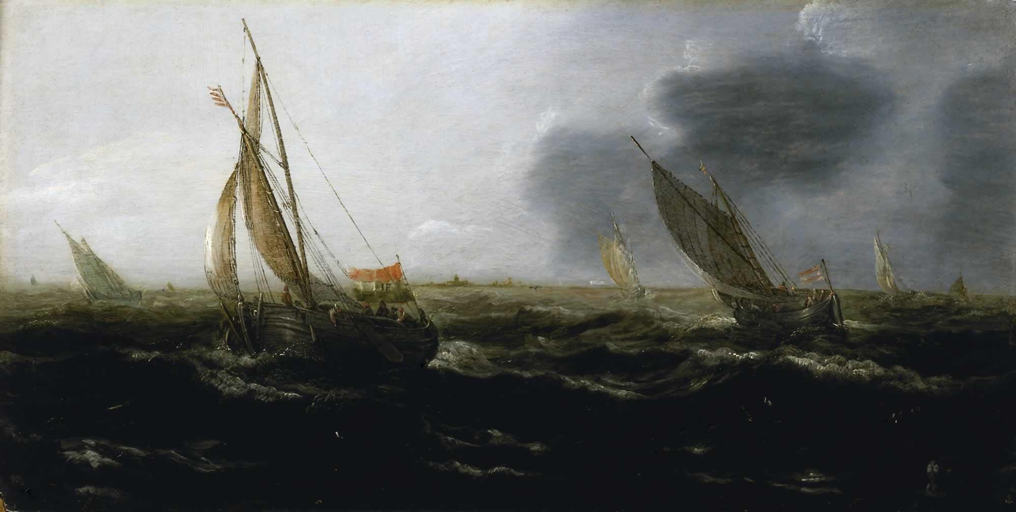 Jan_Porcellis_-_Dutch_Vessels_in_a_Stron