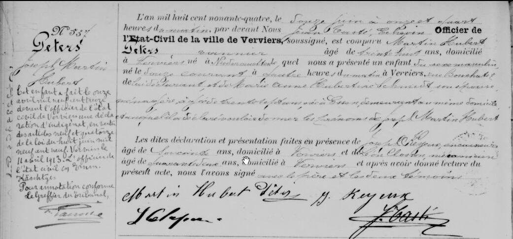 Filejoseph Peters Birth Certificateg Wikimedia Commons