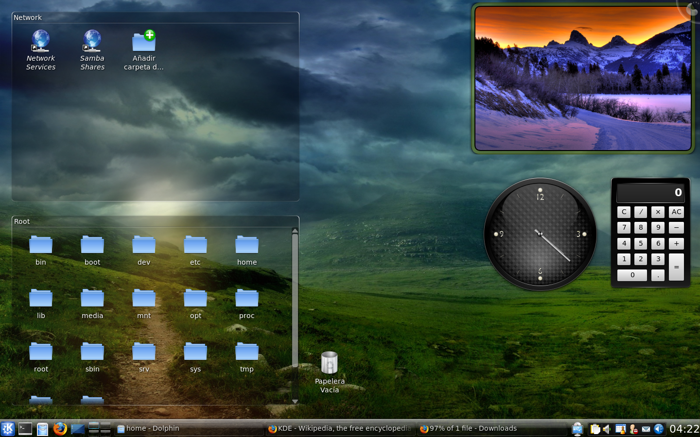 kde screen: