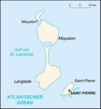 Karte St Pierre und Miquelon