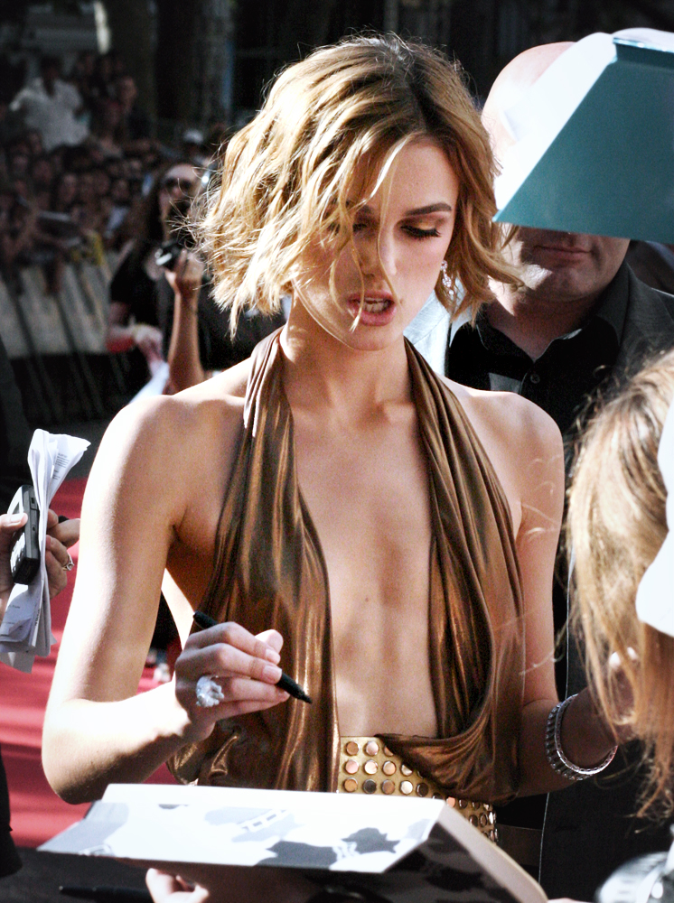 Opinion. Your boob keira knightley with you