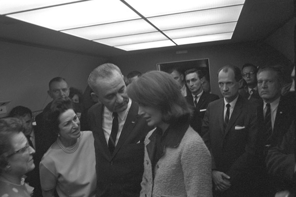 On Air Force One, 22 November 1963, just after...