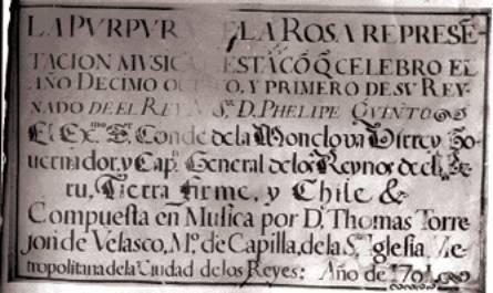 Portada de 'La Púrpura de la Rosa' de Tomás de Torrejón y Velasco