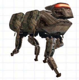 English: Legged Squad Support System, conceptu...