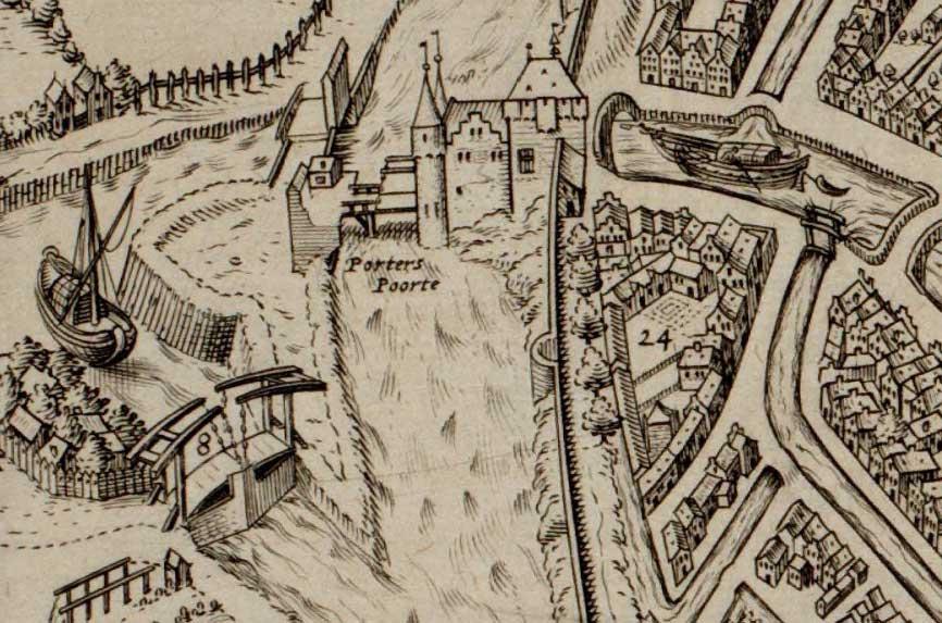 File:Leprozenhuis Gouda fragment kaart 1585.jpg