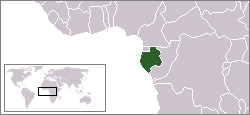Kart over République Gabonaise