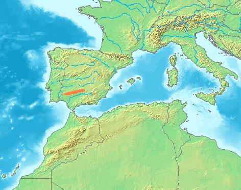 Depiction of Sierra Morena