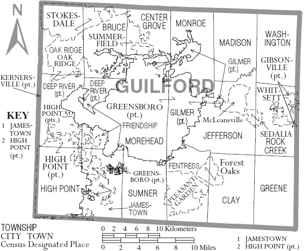 Map_of_Guilford_County_North_ ...guilford county
