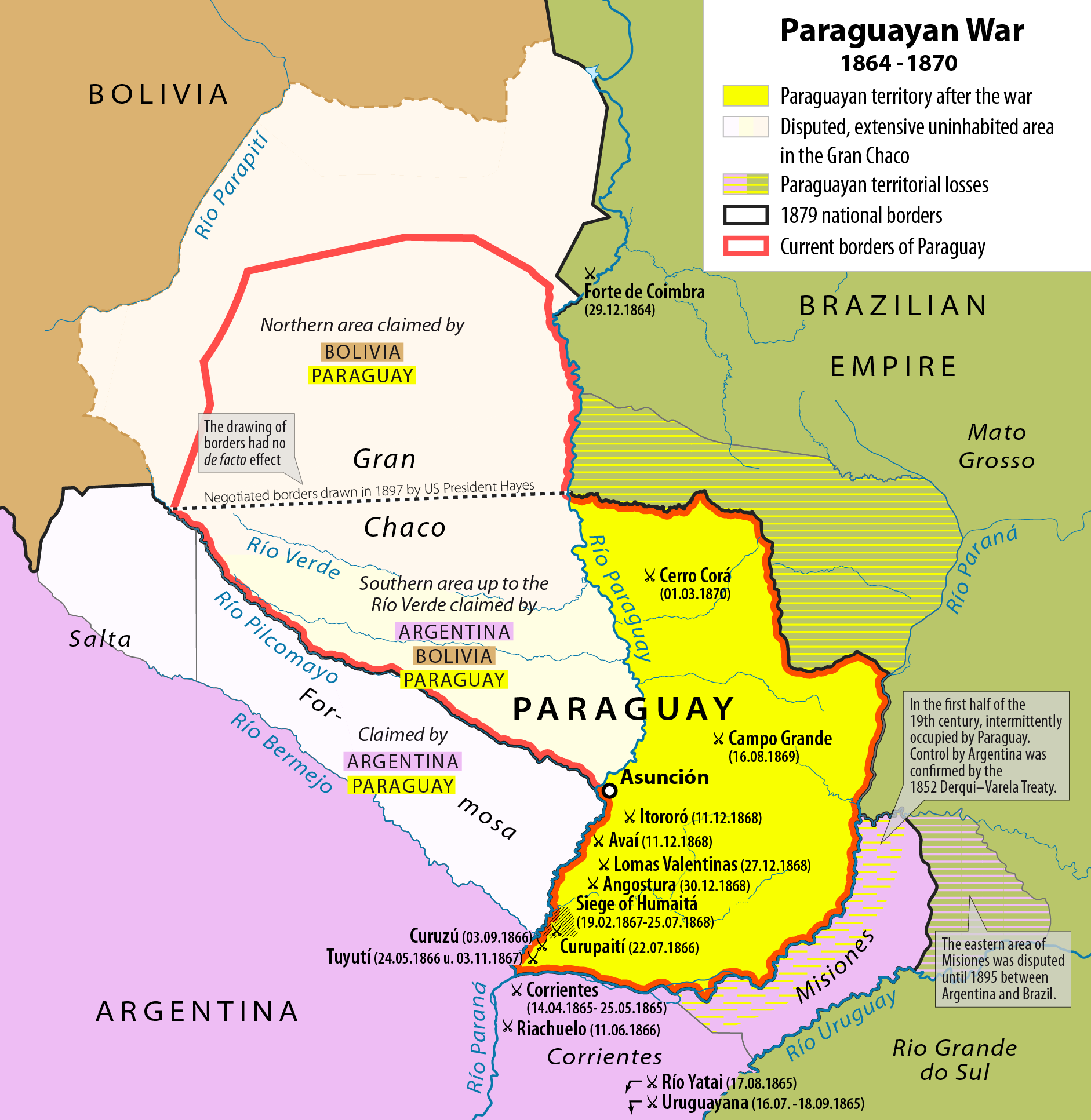 2227th file - 497 KB - 1882x1933 02.01.2018 .. 03.01.2018 (3 versions) upload 4629 .. 4631. Map of the Paraguayan War 1864-1870.png
