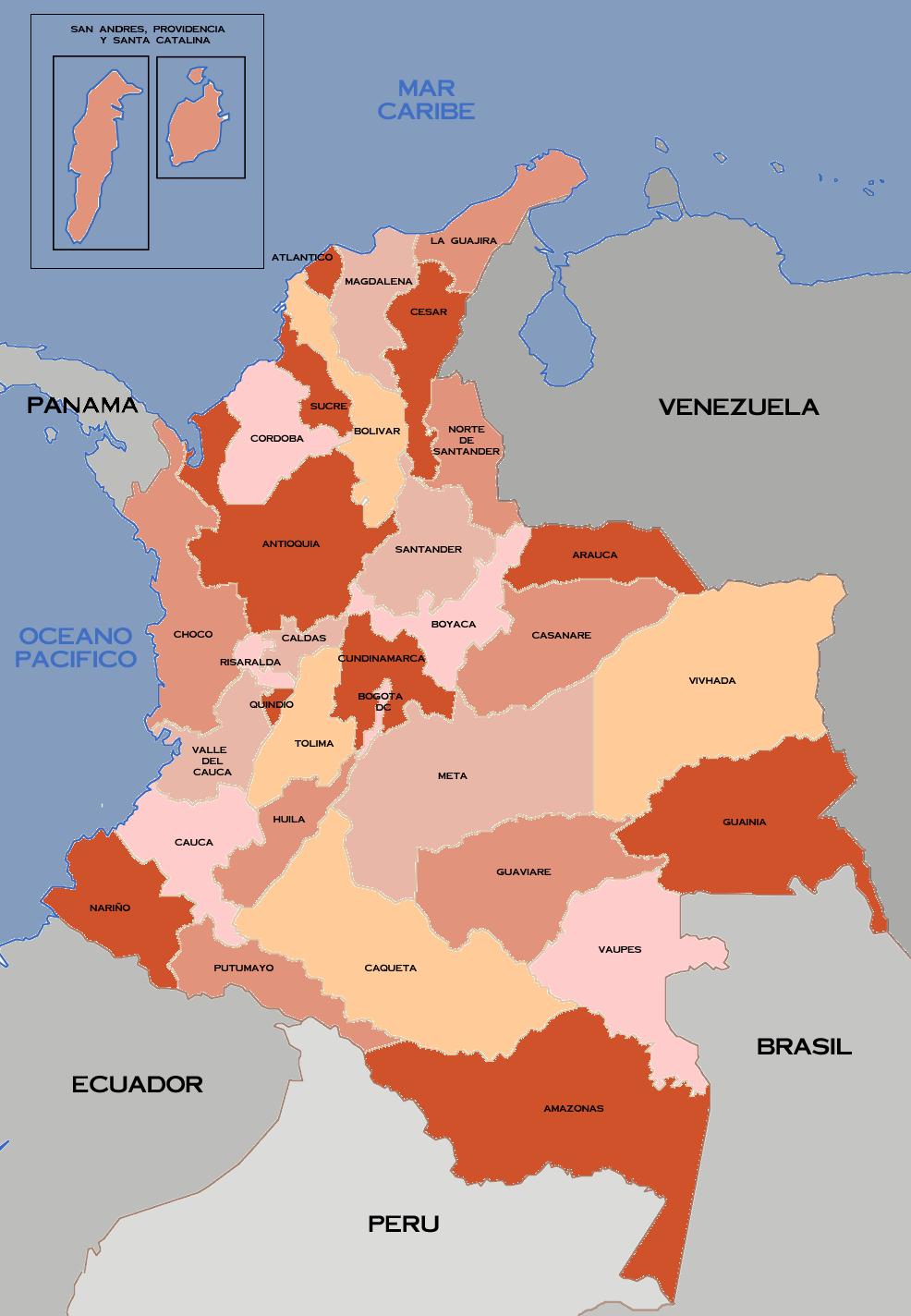 File:Mapa de los departamentos de Colombia 32.png - Wikimedia Commons