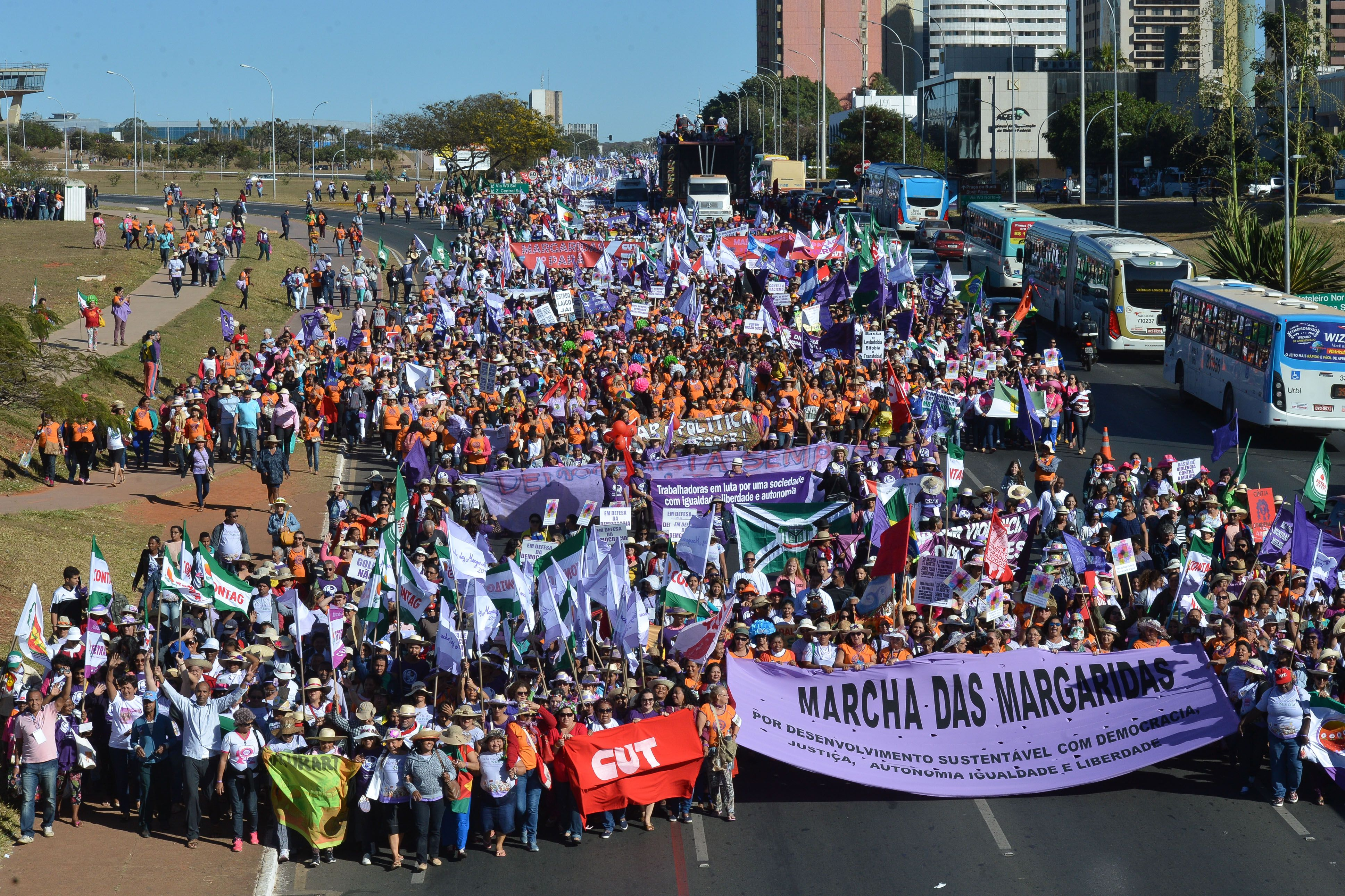 Marcha das Margaridas de agosto de 2015. (José Cruz/Agência Brasil)