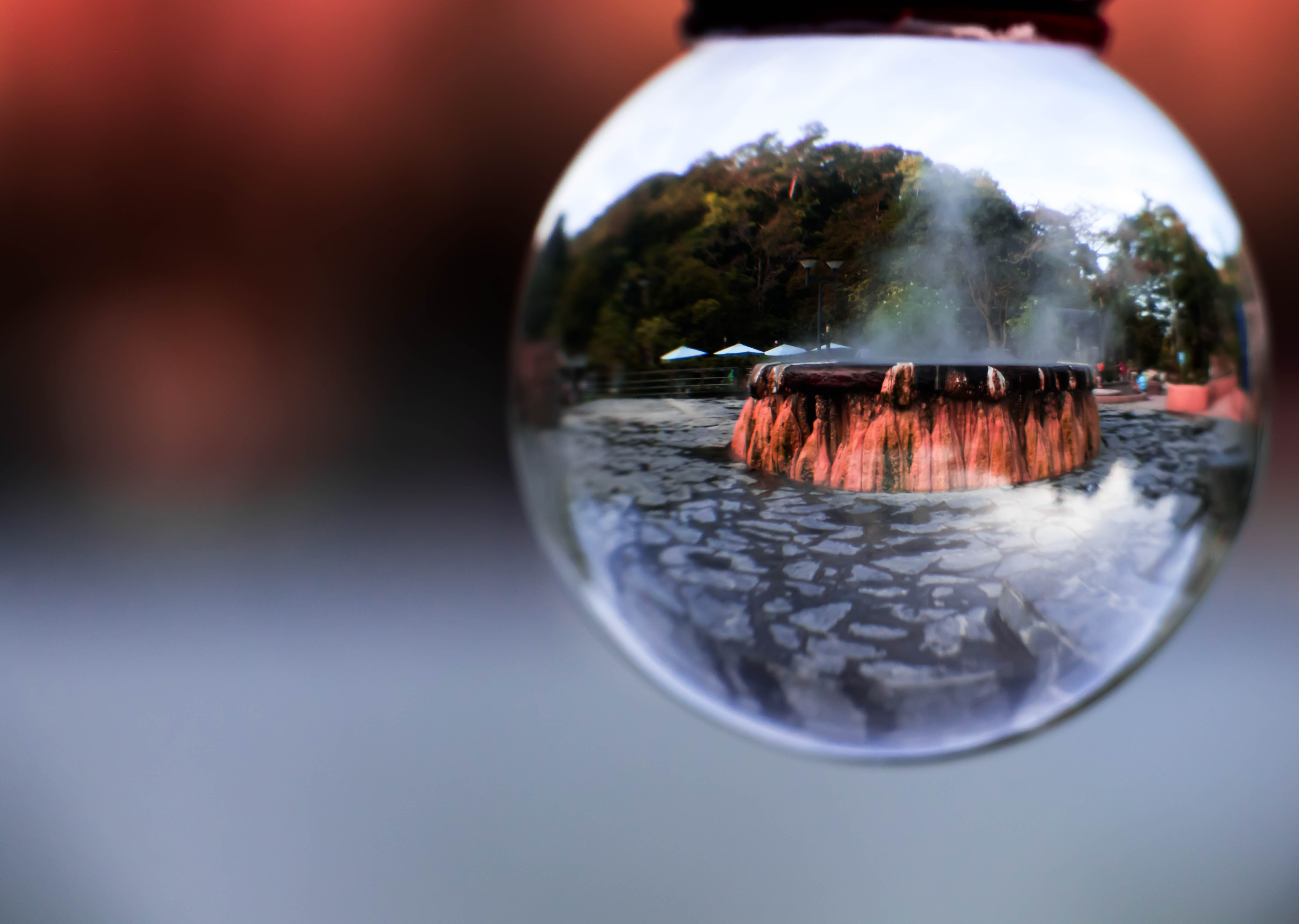 File:Mirror and reflection of Crystal ball Inside is Geyser Hot springs  Landmark At Raksawarin