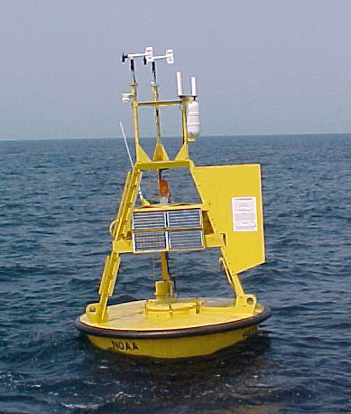 Buoy in the ocean