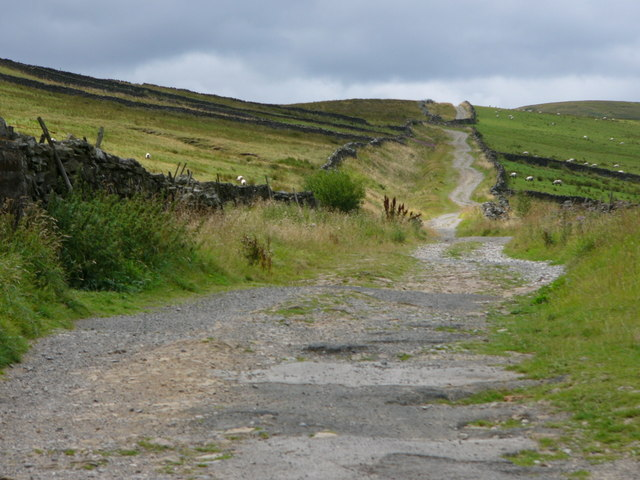 File:Old Roman road near Bainbridge - geograph.org.uk - 399260.jpg