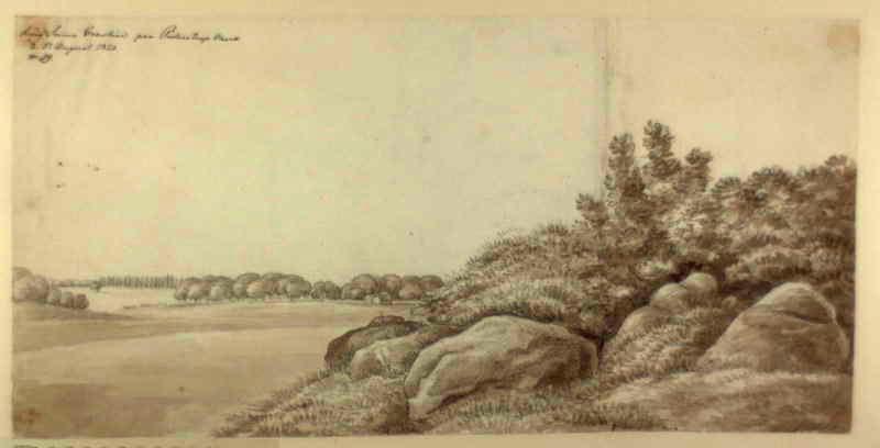 Ole Jørgen Rawert - Kong Sviins Gravhöi paa Pederstrup Mark d 5 August 1820. No. 59 RA000432