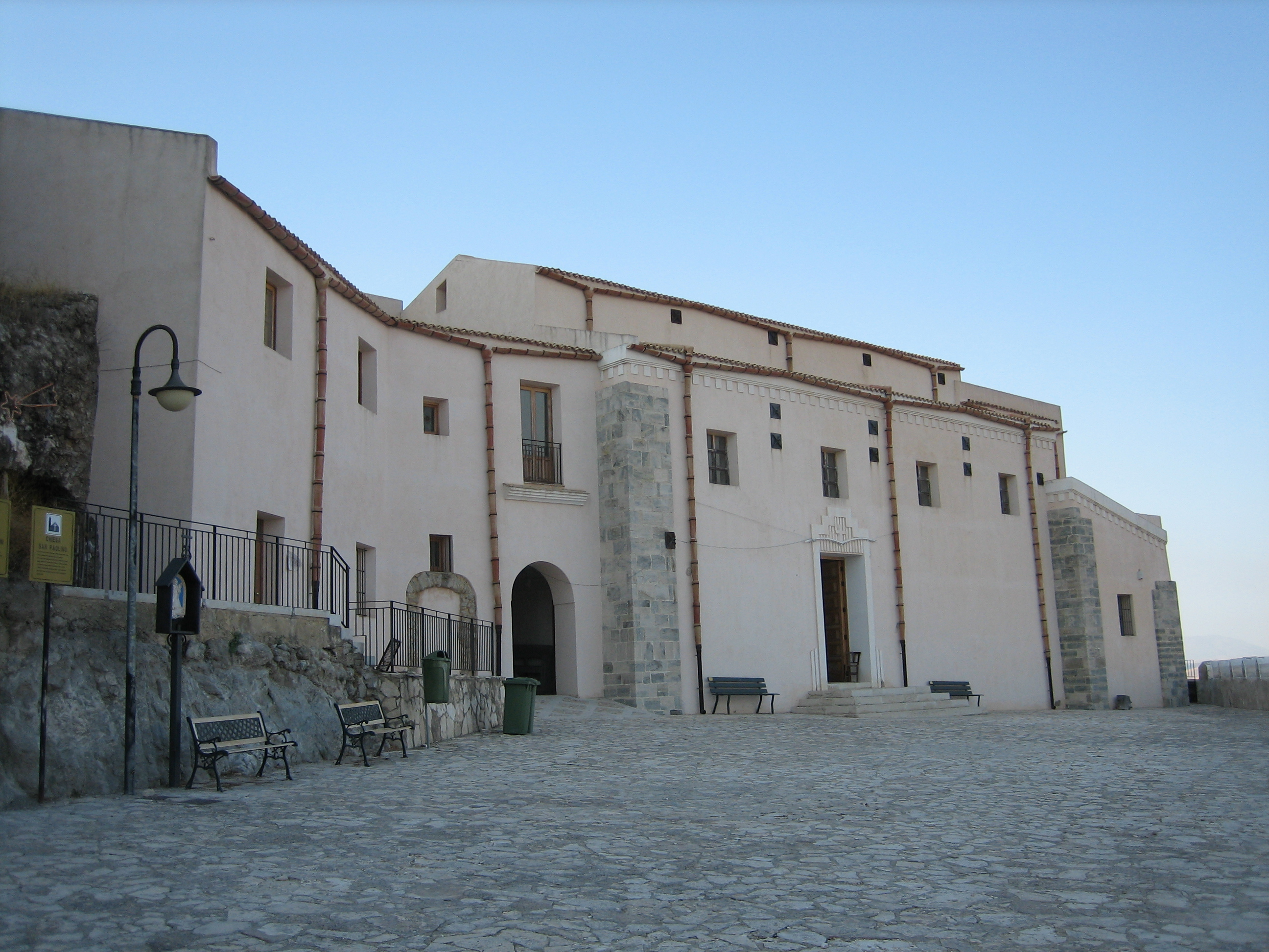 Helligdommen San Paolino i Sutera på Sicilia med relikvier av Paulinus