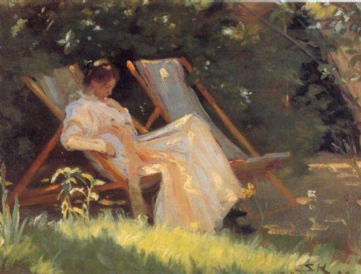 Peder Severin Krøyer - Page 2 Peder-severin-kroyer-marie-en-el-jardin-reading