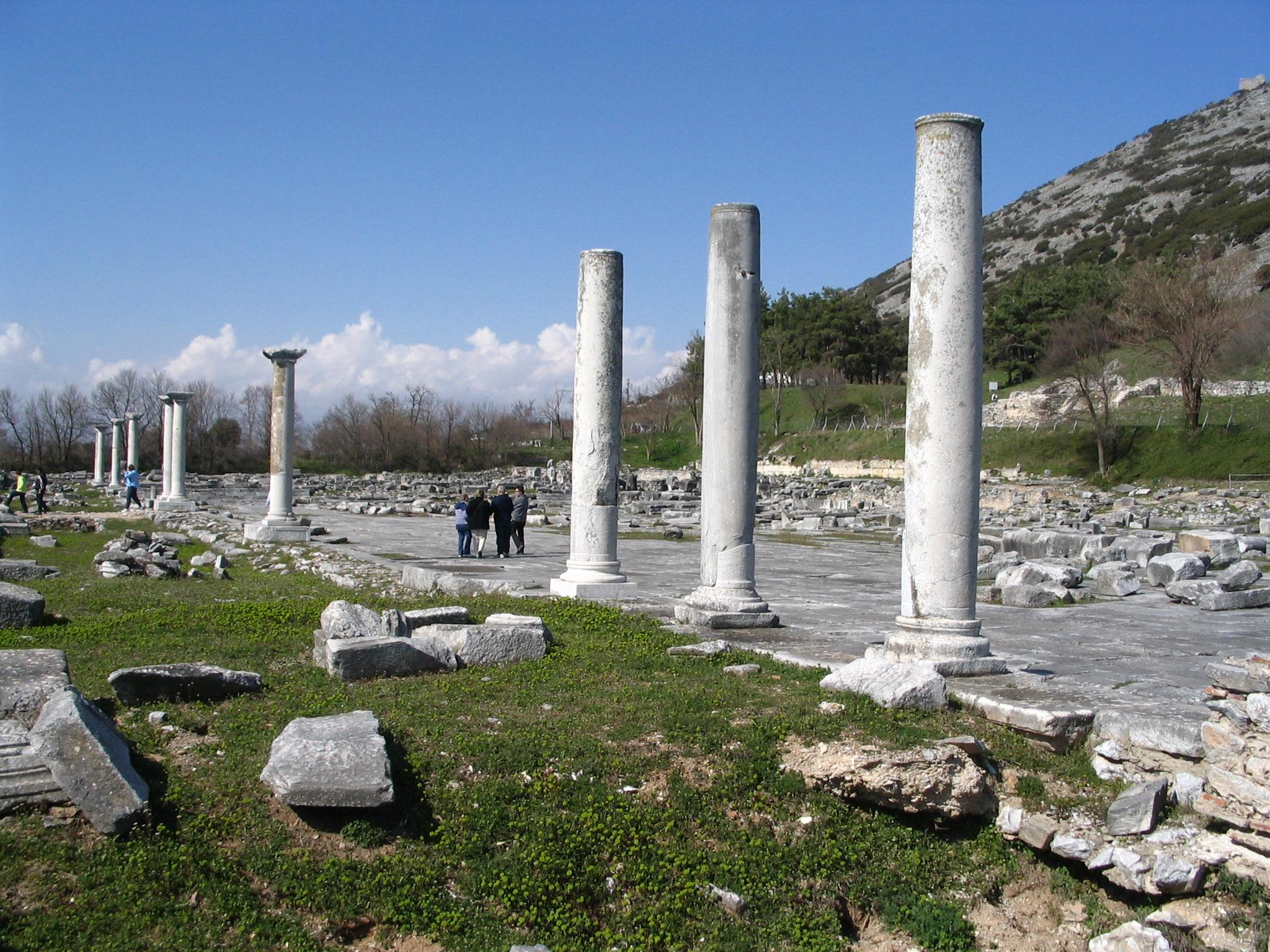 Filephilippi Agoraandacropolis Jpg Wikimedia Commons