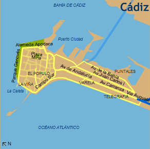 Map of the central city