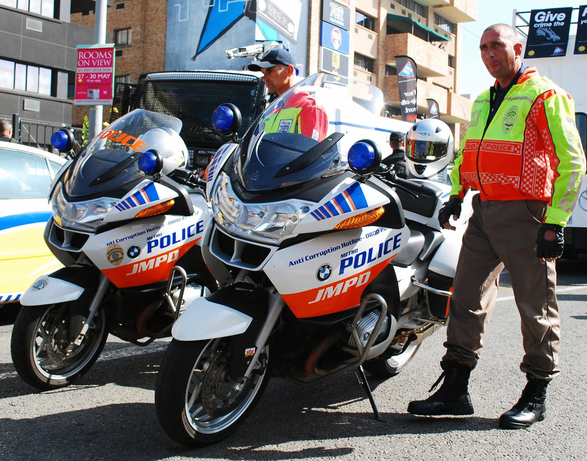 file:police with motorcycles in south africa - wikimedia commons