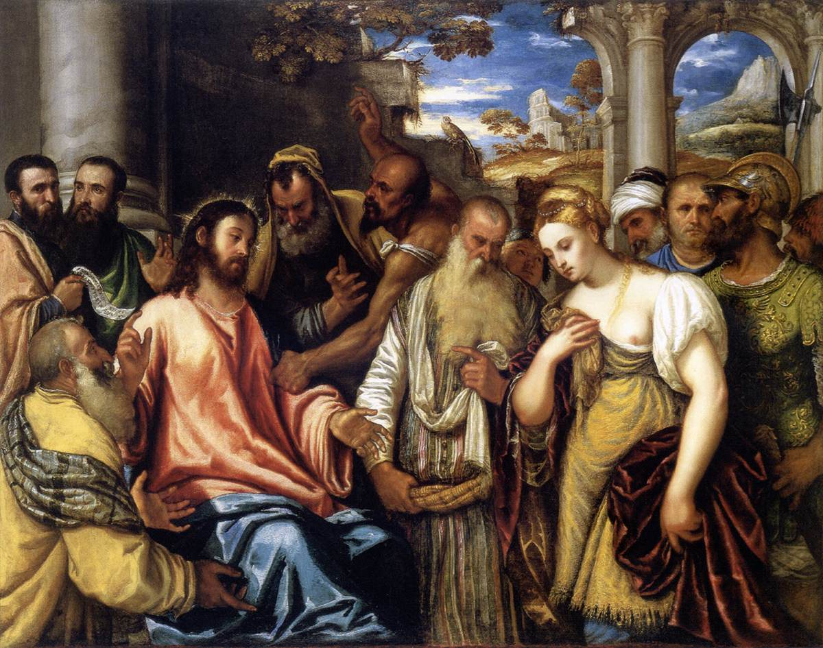 File:Polidoro da Lanciano Cristo y la adúltera MFA Budapest.jpg - Wikimedia  Commons