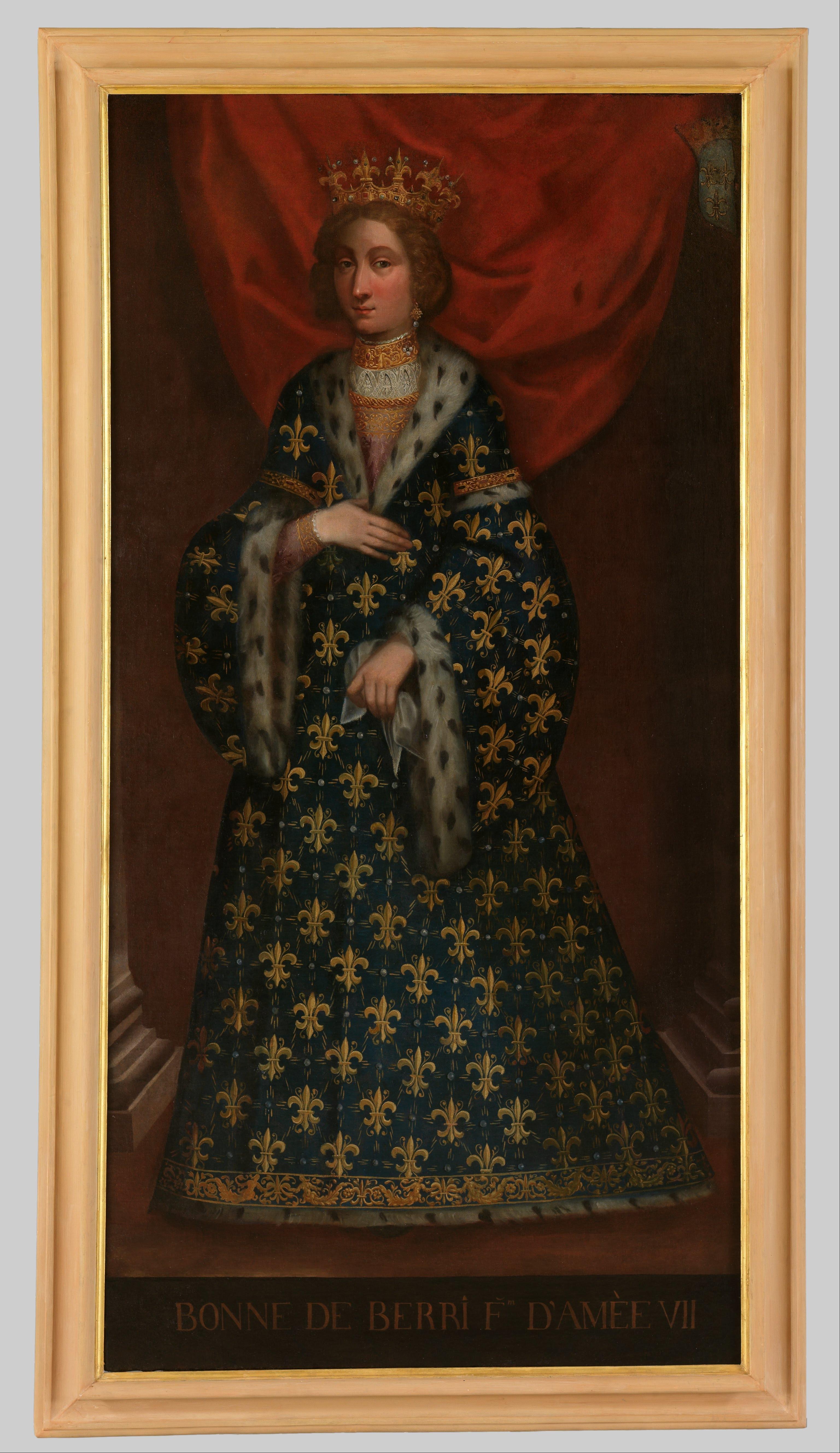 Портрет на Бона дьо Бери, съпруга на Амедео VII. Снимка: wikimedia