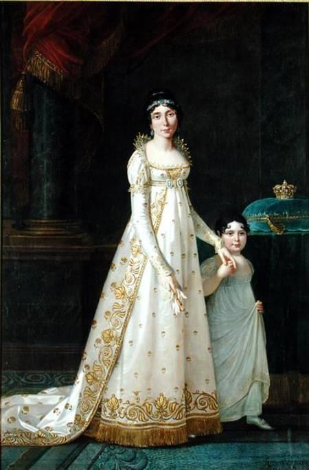 Portrait of Marie-Julie Clary Queen of Naples with her daughter Zenaide Bonaparte