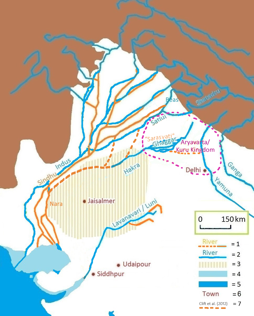 The Indus Valley Civilization: The Masters of the River (Youtube video: c. 2015) Sarasvati_river