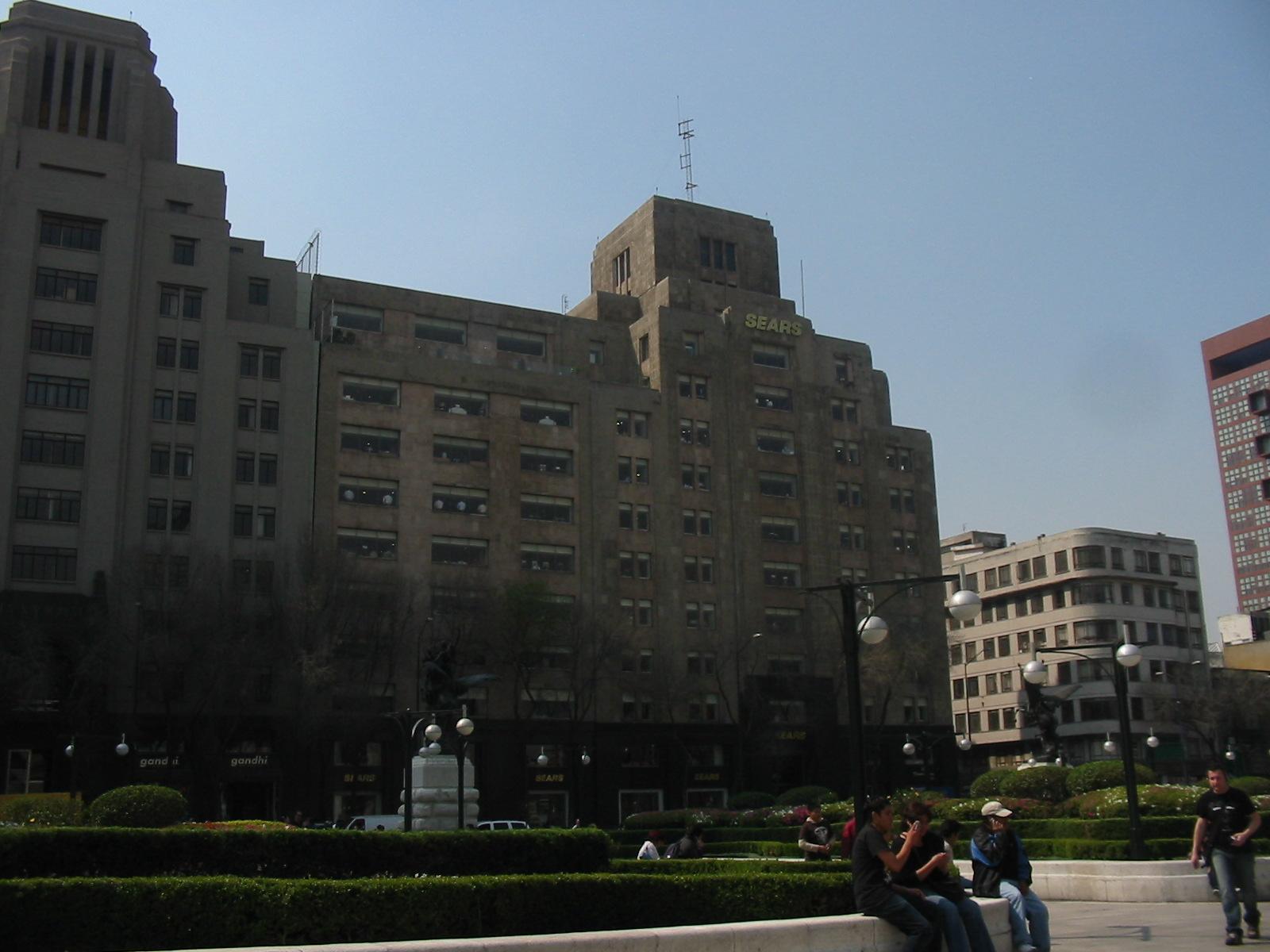 Sears building in the Edificio La Nacional building in Mexico City, across from the Palacio de Bellas Artes.