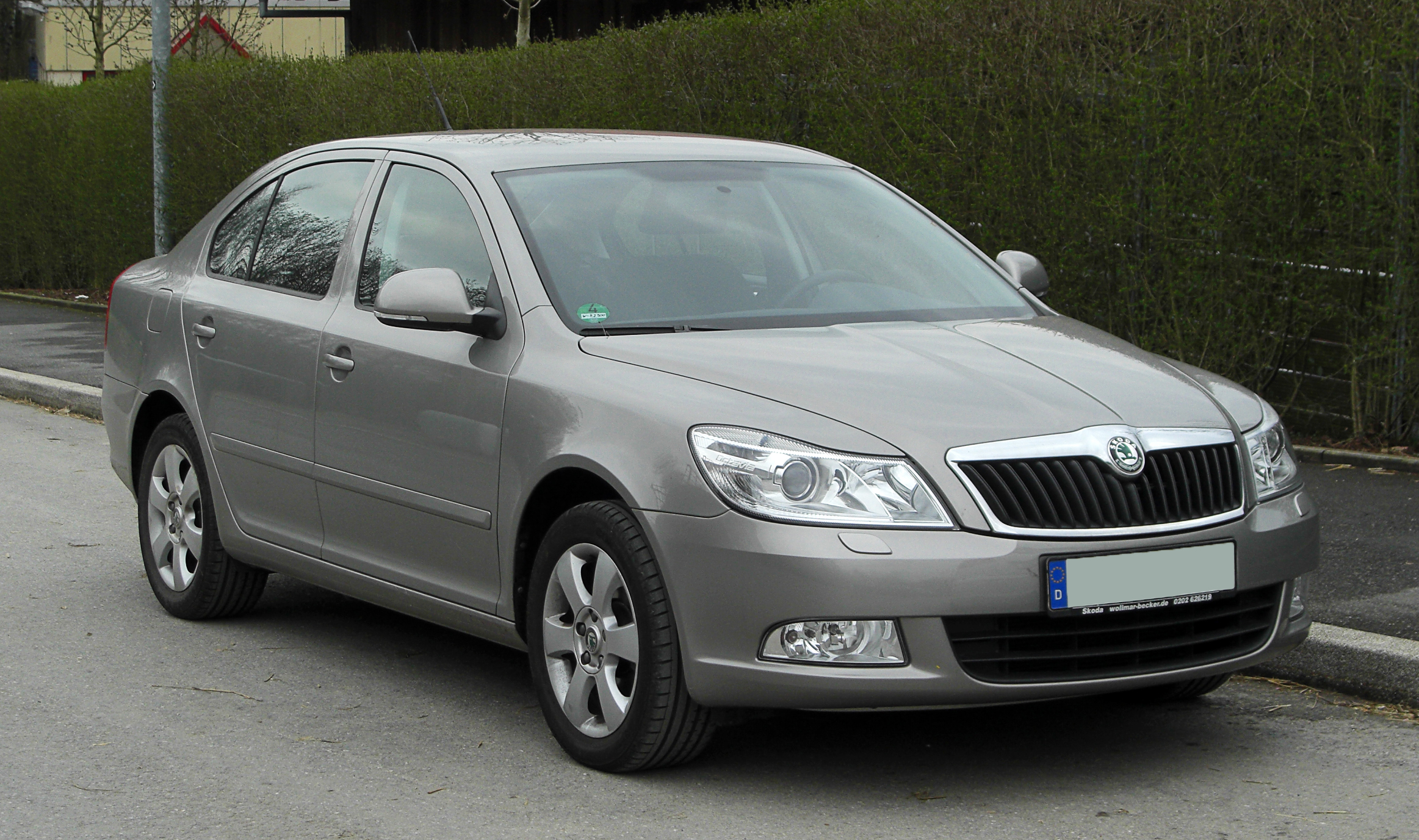 file skoda octavia tdi ii facelift frontansicht 1. Black Bedroom Furniture Sets. Home Design Ideas