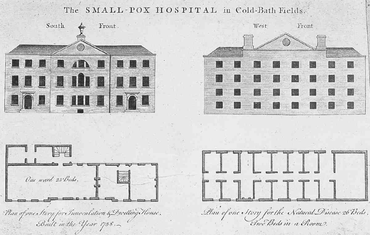 File Smallpox Hospital Coldbath Fields Elevations And