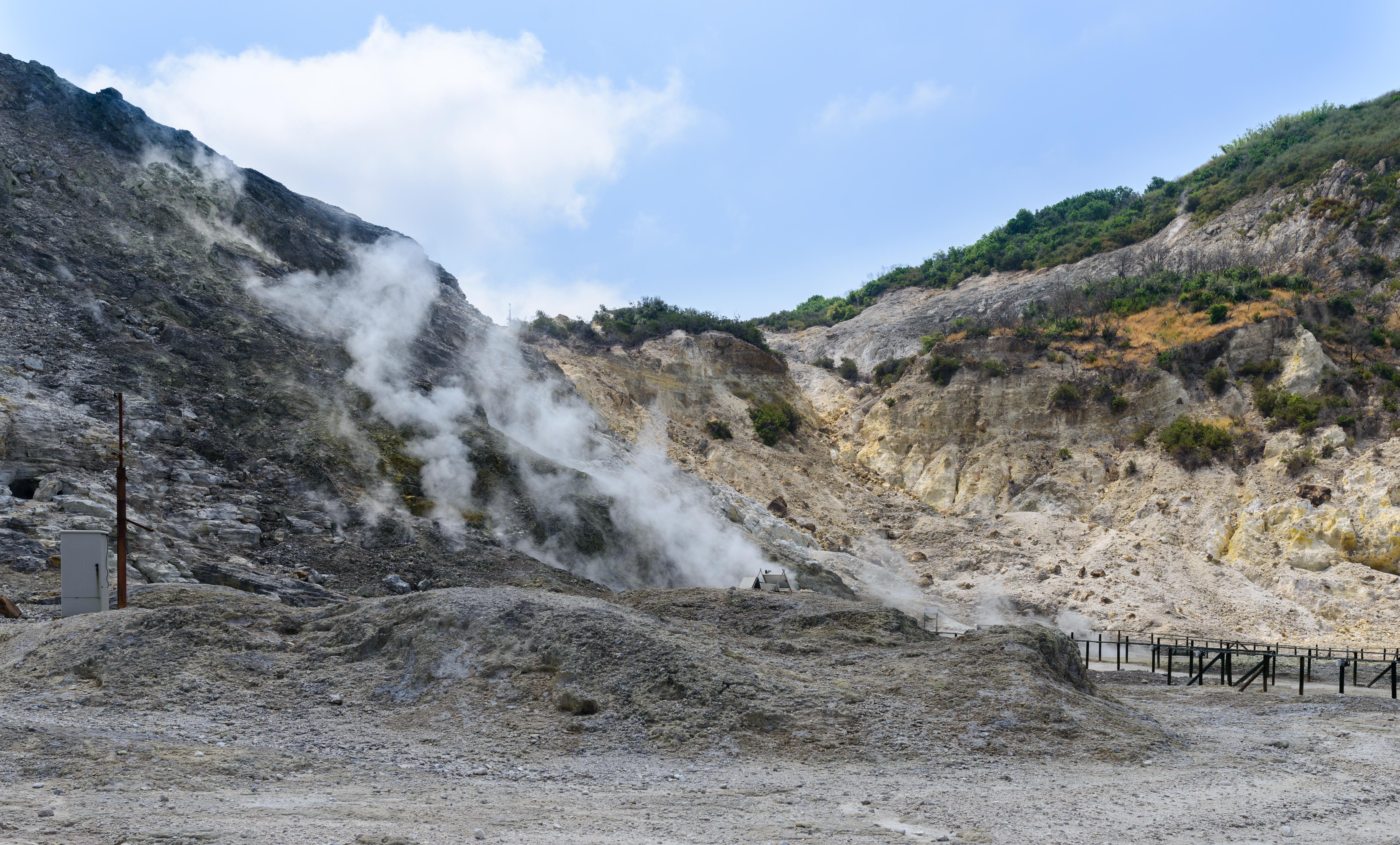 Fumaroles a natural source