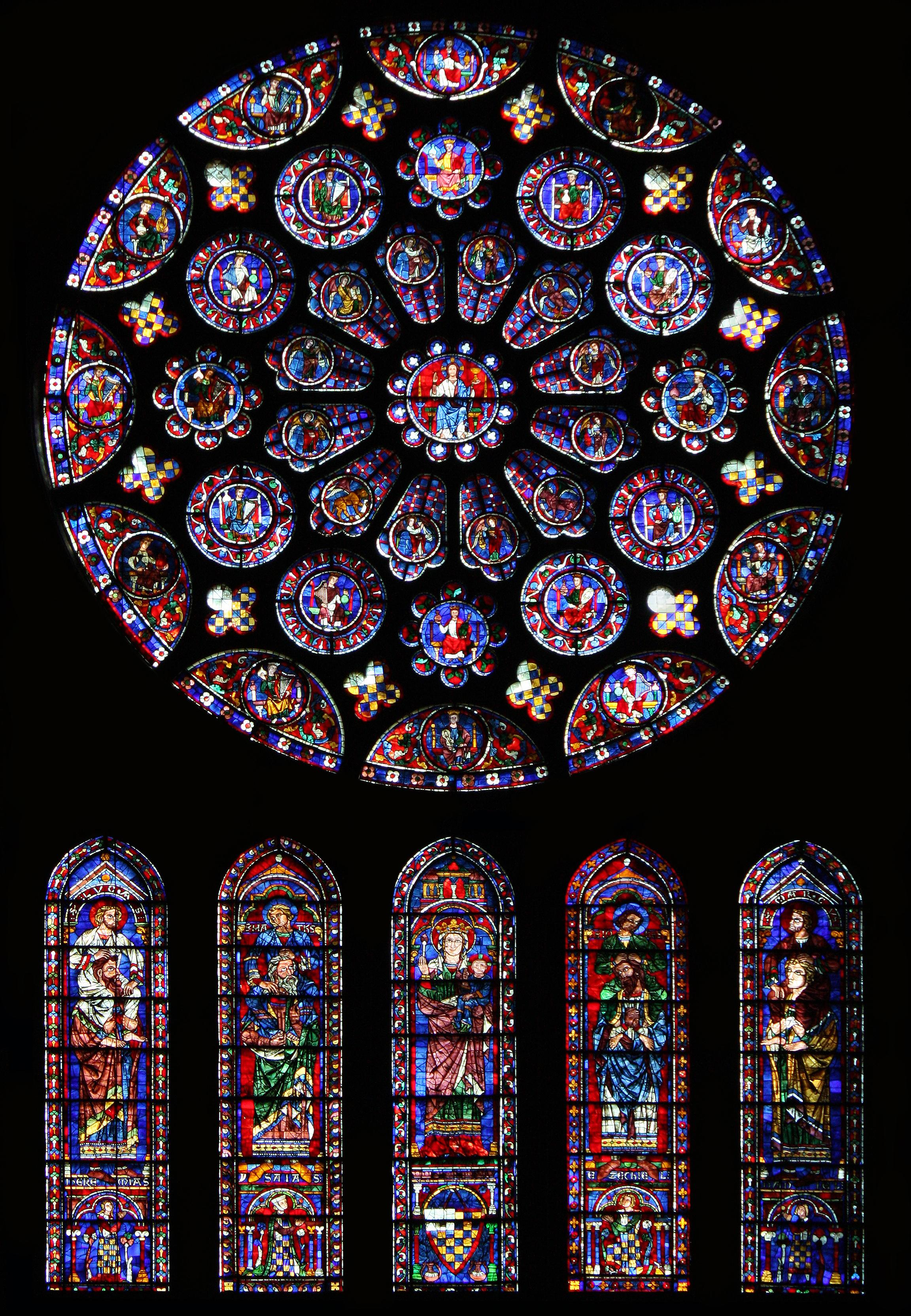 Stained glass windows sacred on pinterest 12th for Rose window design