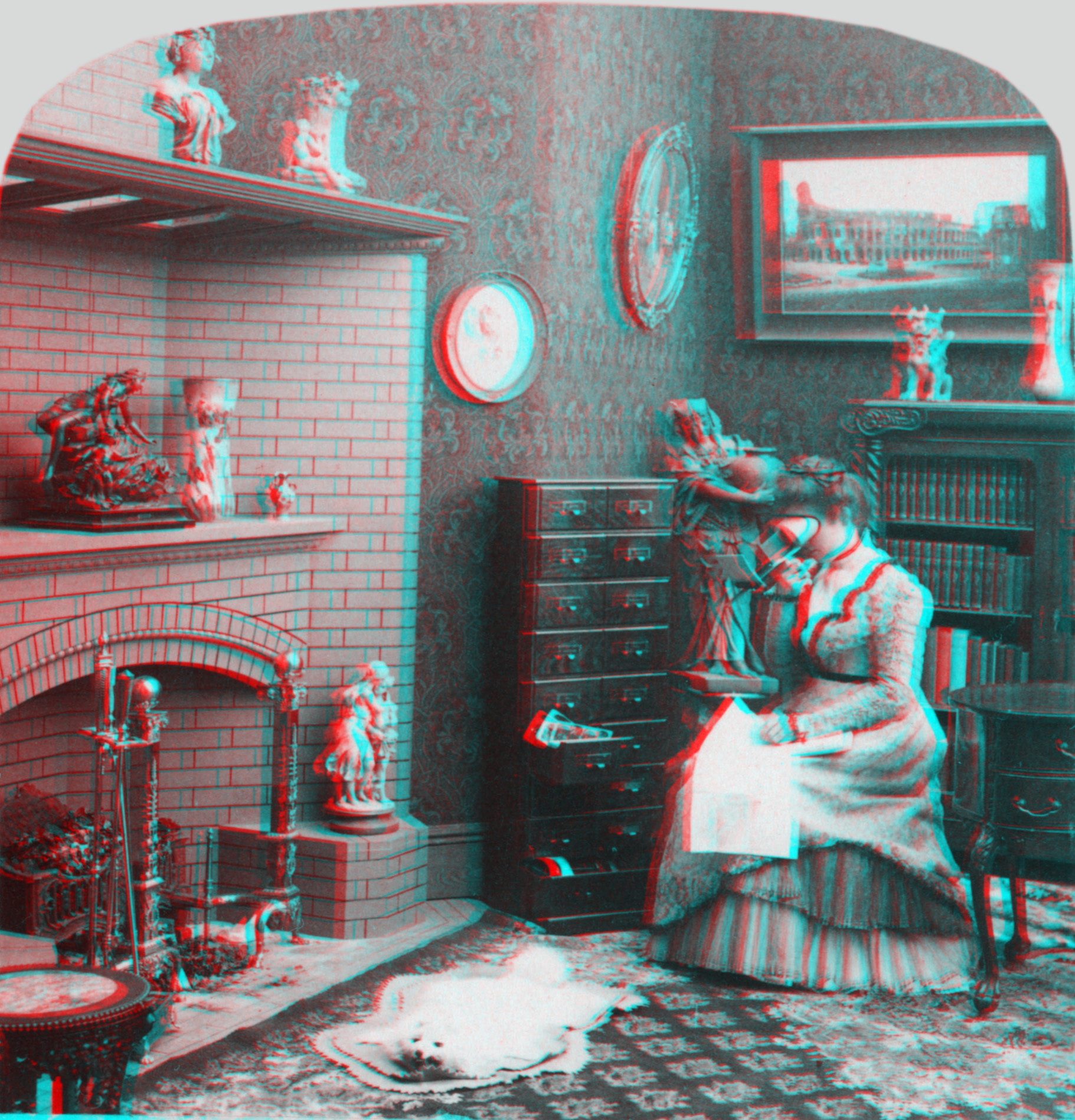 Description stereograph as an educator anaglyph