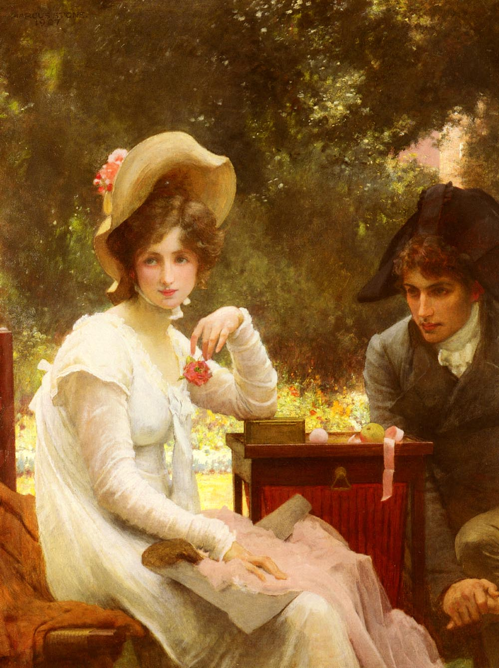 Romantic Era Paintings Of Couples File:Stone Marcus In L...