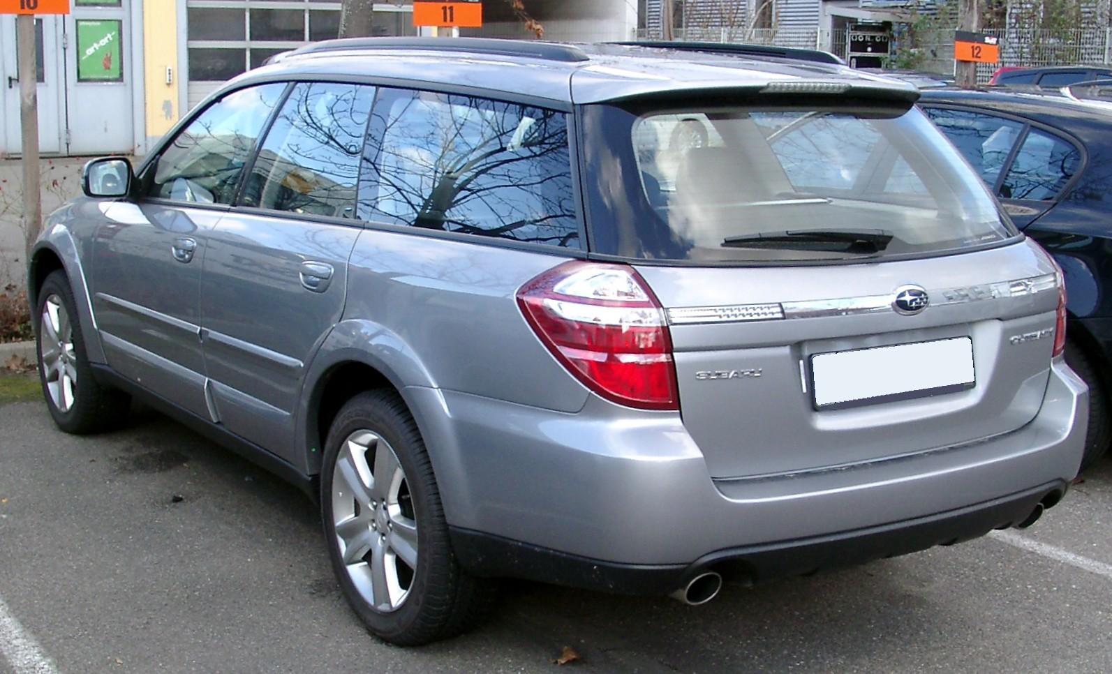 Description Subaru Outback rear 20080202.jpg