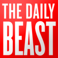 "The Daily Beast's logo consists of the words ""The Daily Beast"" in white text on a red square."