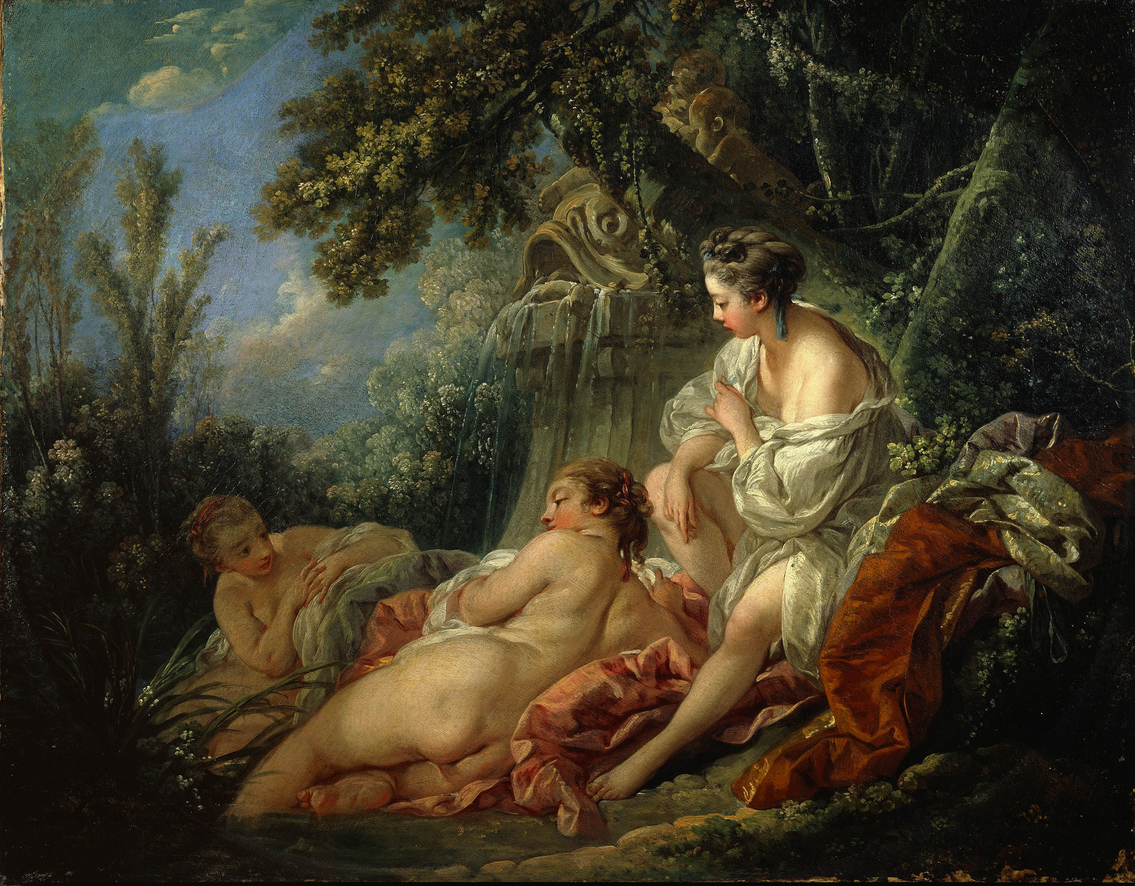 an analysis of the form of the painting autumn by francois boucher François boucher (1703 - 1770) pastoral with a couple near a fountain france  1749 painting oil on canvas image size: 2595 x 1986 cm signature: 'f.