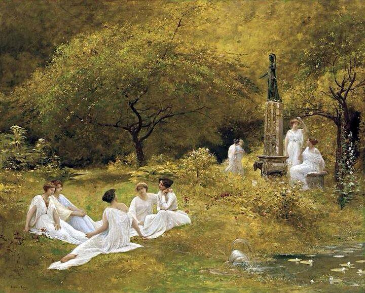 The Muses Garden, by Lionel Noel Royer (public domain)