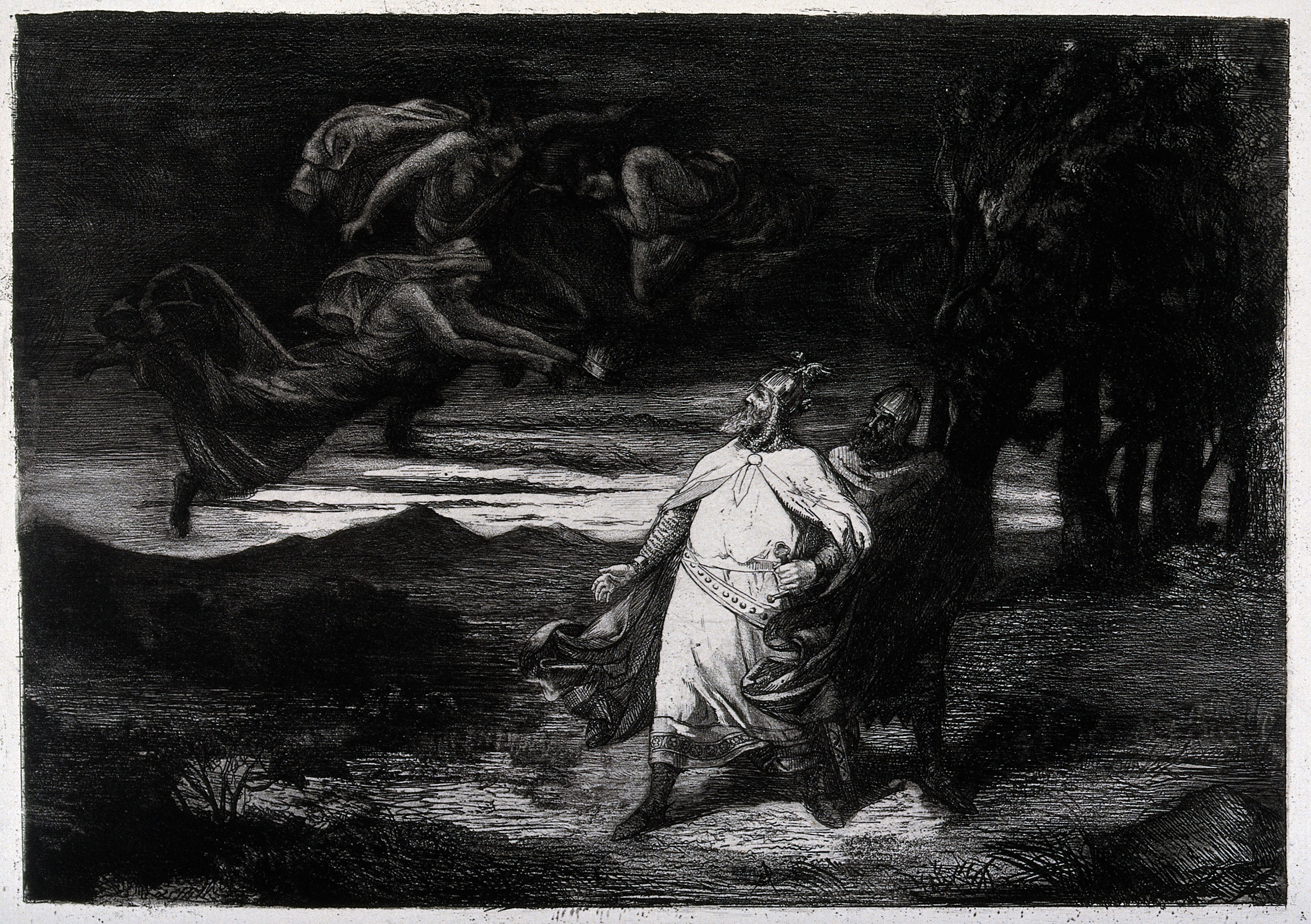 what is the role of the three witches in macbeth