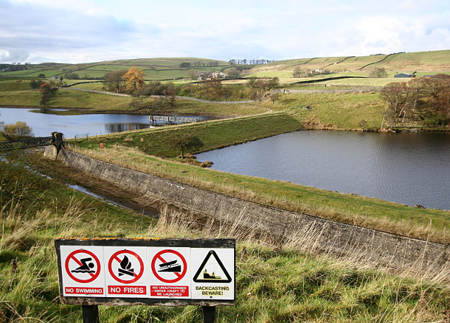The top of Hury reservoir - geograph.org.uk - 1577878